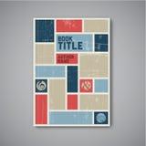 Retro Wektorowy abstrakcjonistyczny broszurka projekta szablon Zdjęcia Royalty Free