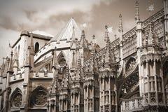 Retro Westminster abbotskloster Royaltyfri Bild