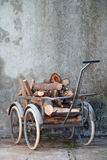 Retro wheelbarrow Royalty Free Stock Photography