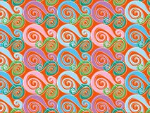 Retro whirly pink and blue Royalty Free Stock Image