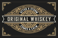 Retro whiskey label. Vector layered Royalty Free Stock Photo
