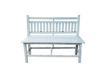 Retro white bench isolated Stock Photography