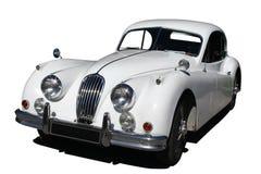 Retro white car Royalty Free Stock Photography