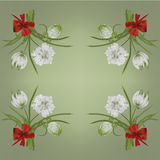 Retro white flower card background Royalty Free Stock Photography