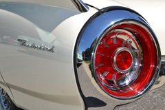 Retro White Ford Thunderbird tail light and part back panel Stock Photography