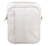 Retro white leather sport bag Royalty Free Stock Photography