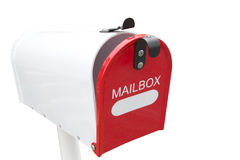 Retro white mailbox Stock Images