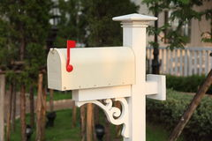 Retro white mailbox Royalty Free Stock Photography