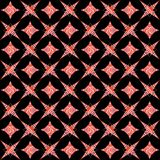 Retro white and red seamless pattern on black Royalty Free Stock Photo