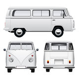Retro White Van Royalty Free Stock Images