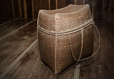 Retro wicker bag Royalty Free Stock Images