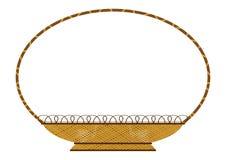 Retro wicker basket Royalty Free Stock Image