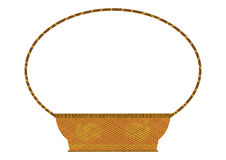 Retro wicker basket Stock Photography