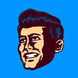 Retro wieka mężczyzna twarzy wektoru ilustracja Obraz Stock