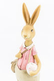 Retro Wielkanocny Męski królik Fotografia Royalty Free