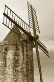 retro windmill Royaltyfri Bild