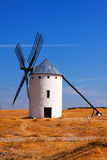 Retro windmill in field Royalty Free Stock Photos