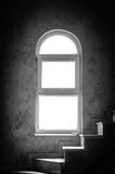 Retro window isolated white black Royalty Free Stock Photos