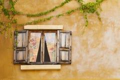 Retro window and wall Royalty Free Stock Photo