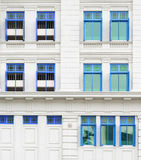 Retro windows with shutters Royalty Free Stock Photos