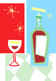 Retro Wine And Glass 3 Stock Photos