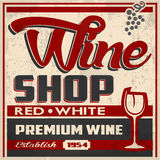 Retro Wine Shop POster Royalty Free Stock Photo