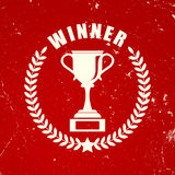 Retro winner icon Royalty Free Stock Photography