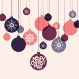 Retro winter holidays background with decorative Royalty Free Stock Image