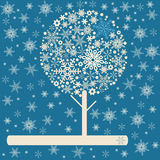 Retro winter tree Stock Photography