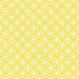 Retro witte cirkels in rijen op zonnige geel Stock Fotografie