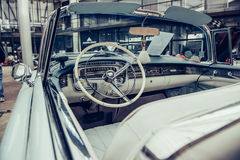 Retro wnętrze stary samochód Obrazy Royalty Free