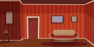 Retro- Wohnzimmer vektor abbildung