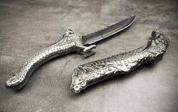 Retro Wojenny nóż Zdjęcie Stock