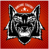 Retro wolf mascot athletic design  Stock Image