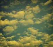 Retro Wolken Royalty-vrije Stock Afbeeldingen