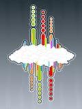 Retro- Wolkenhintergrund lizenzfreie abbildung