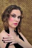 Retro woman. Portrait of a bright seductive woman in retro style Royalty Free Stock Image