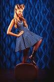 Retro woman Royalty Free Stock Photos