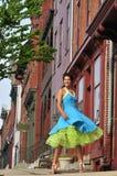 Retro woman dancing Royalty Free Stock Photos