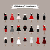 Retro woman dresses Stock Images