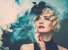 Retro woman Stock Images