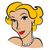 Retro Woman Fashion Blonde Royalty Free Stock Photo