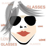 Retro woman with glasses Stock Photos