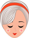 Retro Woman Head Stock Photos