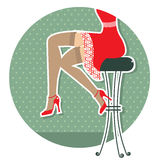 Retro Woman Legs Royalty Free Stock Image