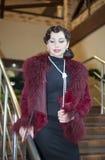Retro Woman portrait Royalty Free Stock Photos
