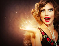 Retro Woman Portrait Royalty Free Stock Images