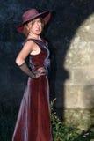 Retro woman posing  Royalty Free Stock Image