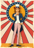 Retro woman posing Uncle Sam I WANT YOU Royalty Free Stock Photo