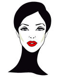 Retro Woman - Retro Clip Art. Fashion Woman - Retro Clip Art beautiful face pretty girl Royalty Free Stock Photo
